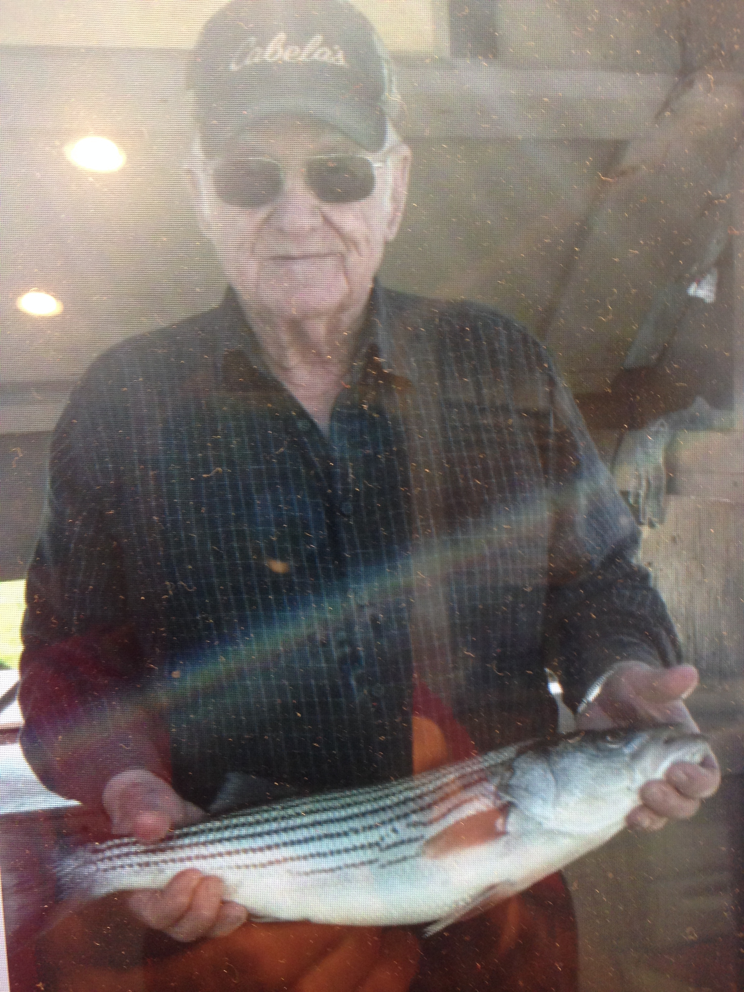 Bill Hooker with his 7 lb striper Feb.26, 2017
