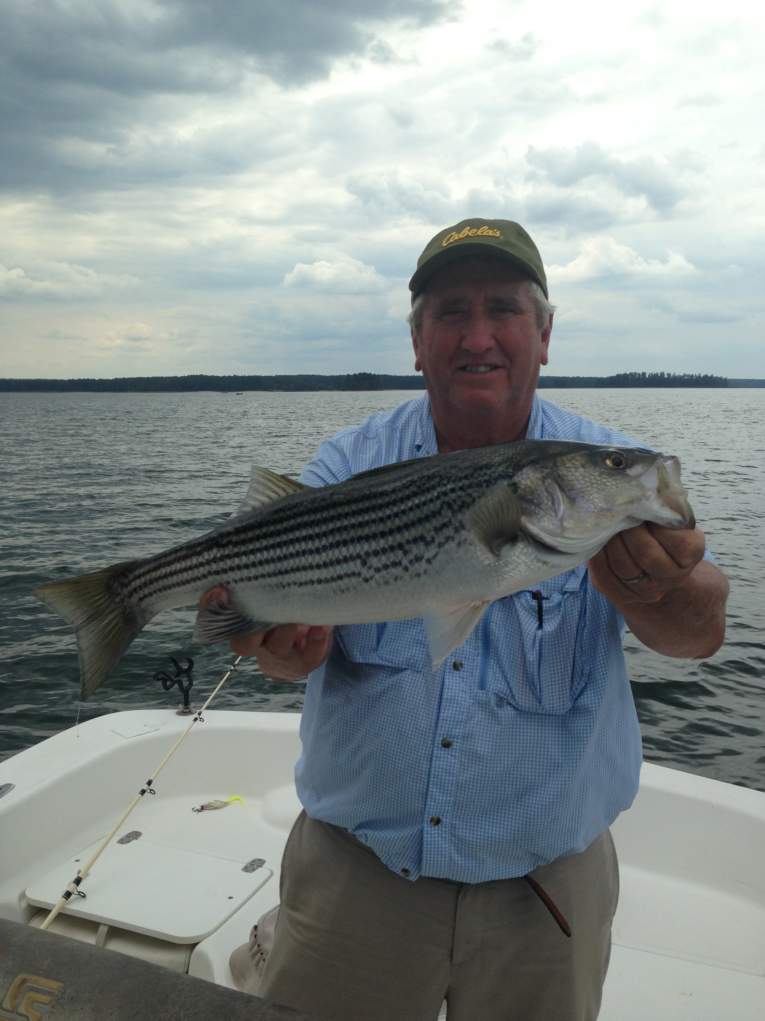 Glenn Smith from Albany, Ga. with 10 lb striper.