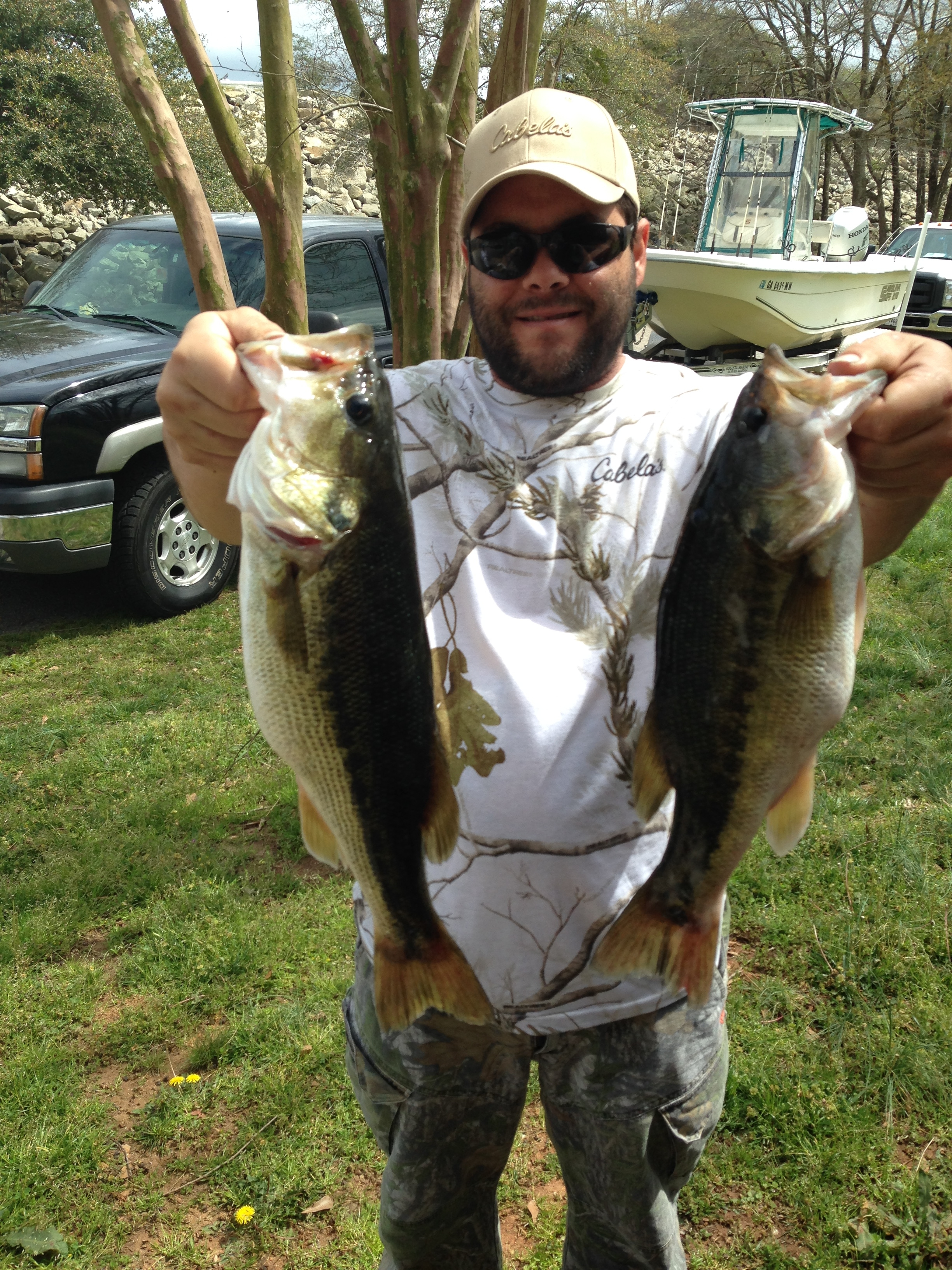 James Slavych with 2 nice bass