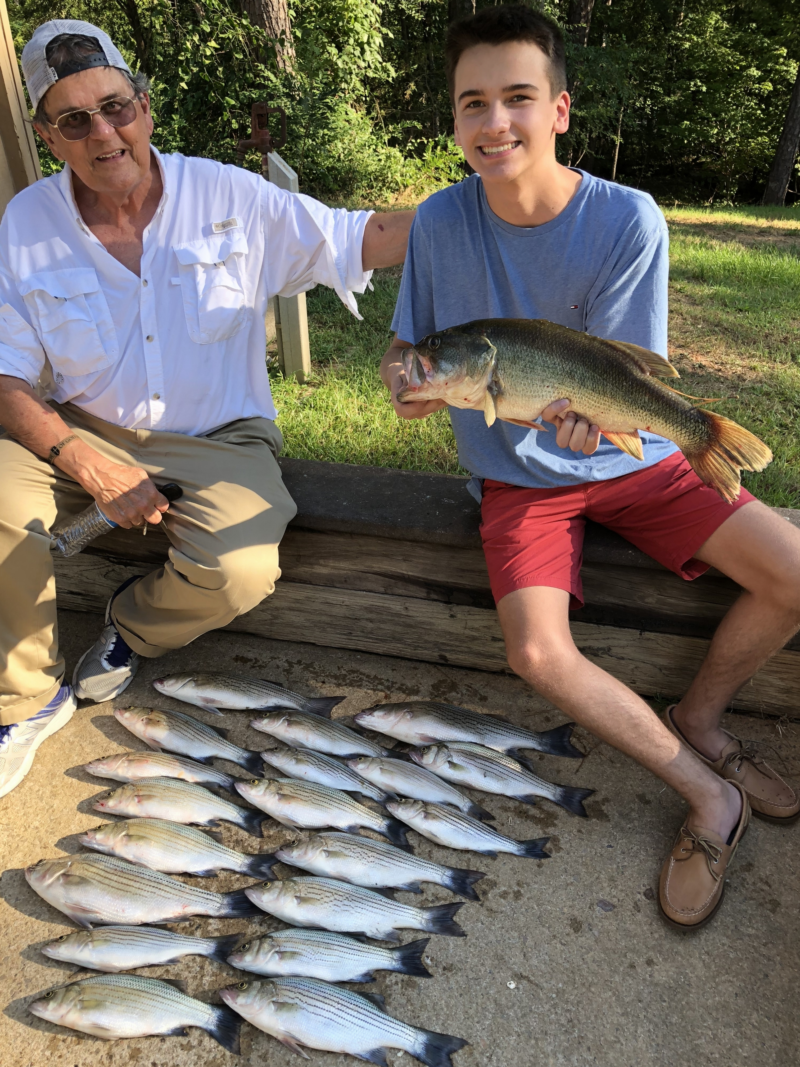 July 10, 2018Terry Williams from Eavns with his Grandson Chase Roberts from Winchester Va. and their catch of the day.IMG_2254