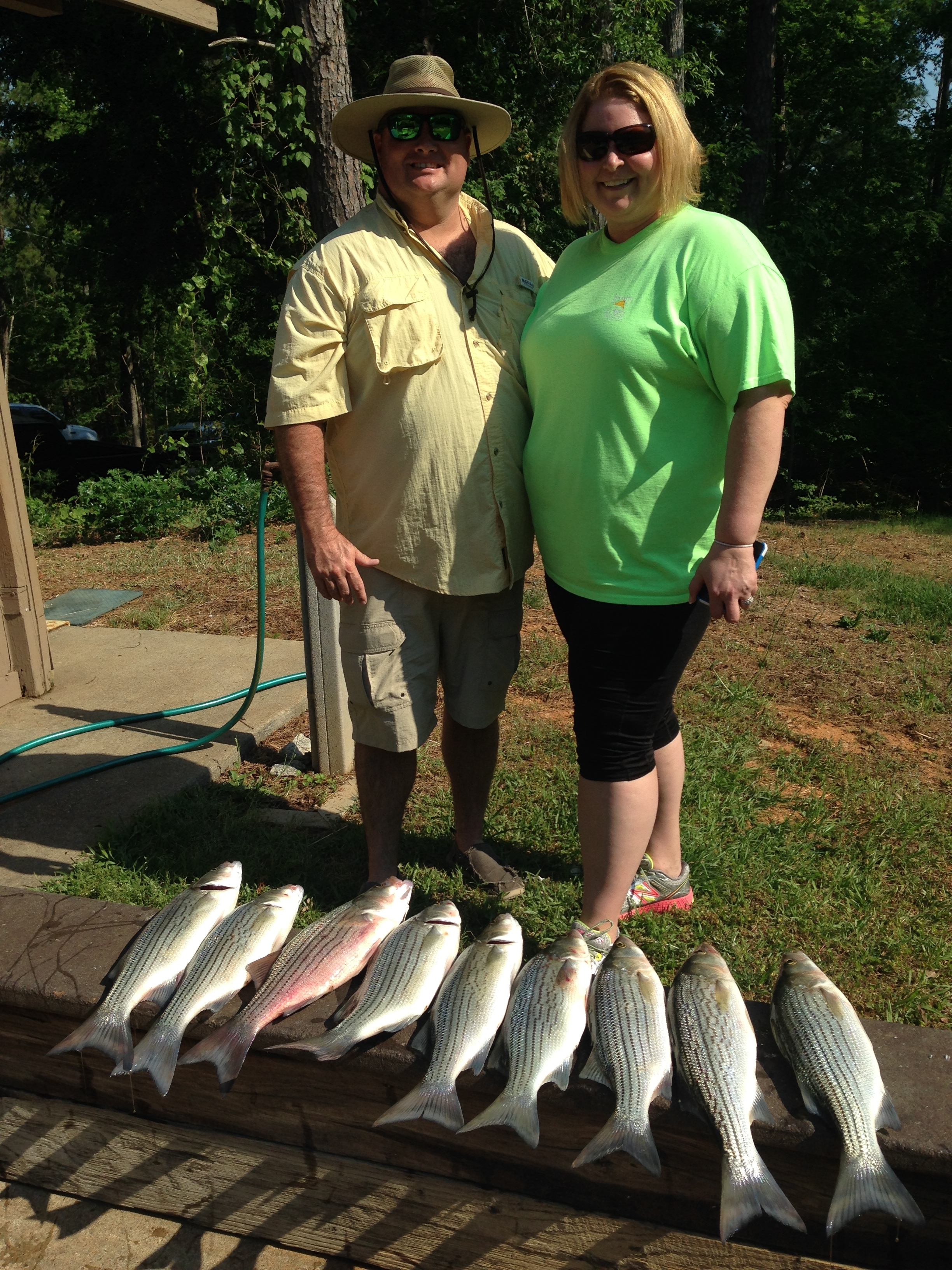 May 12, 2018 Jim and Loren with their nice catch.