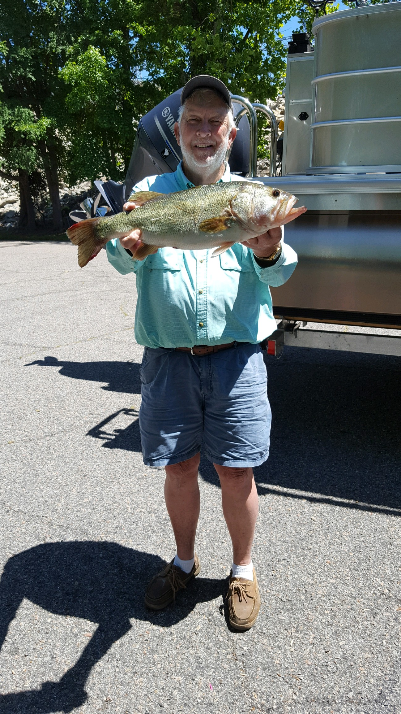 May 17, 2017 Tony Polson with his 6 lb bass.