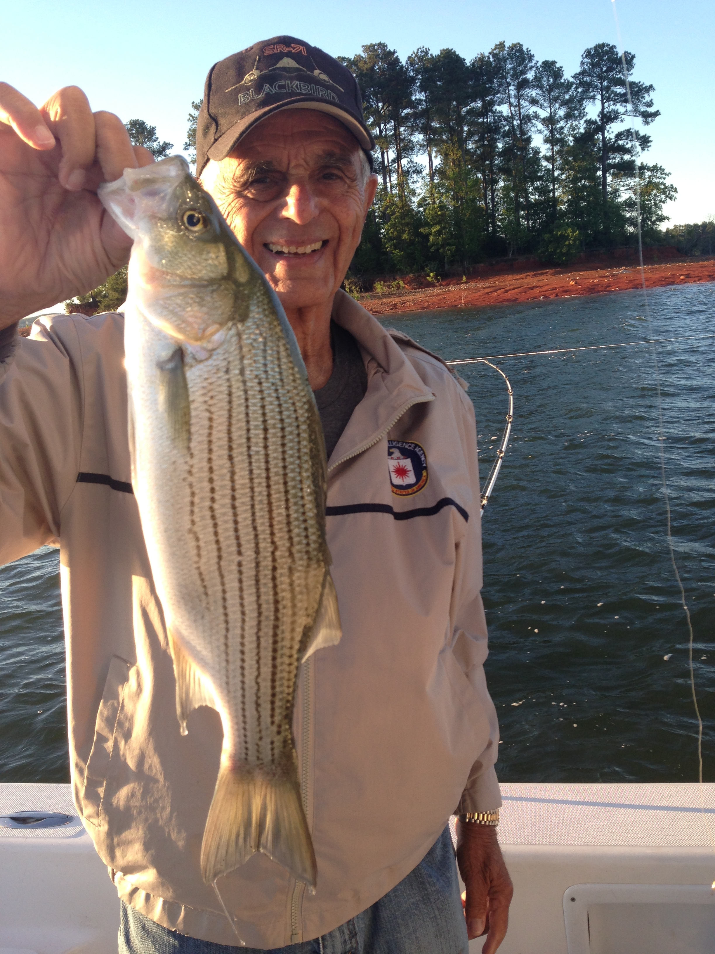 May 2,2017 Bernie Kershner from Palm Coast with nice striper