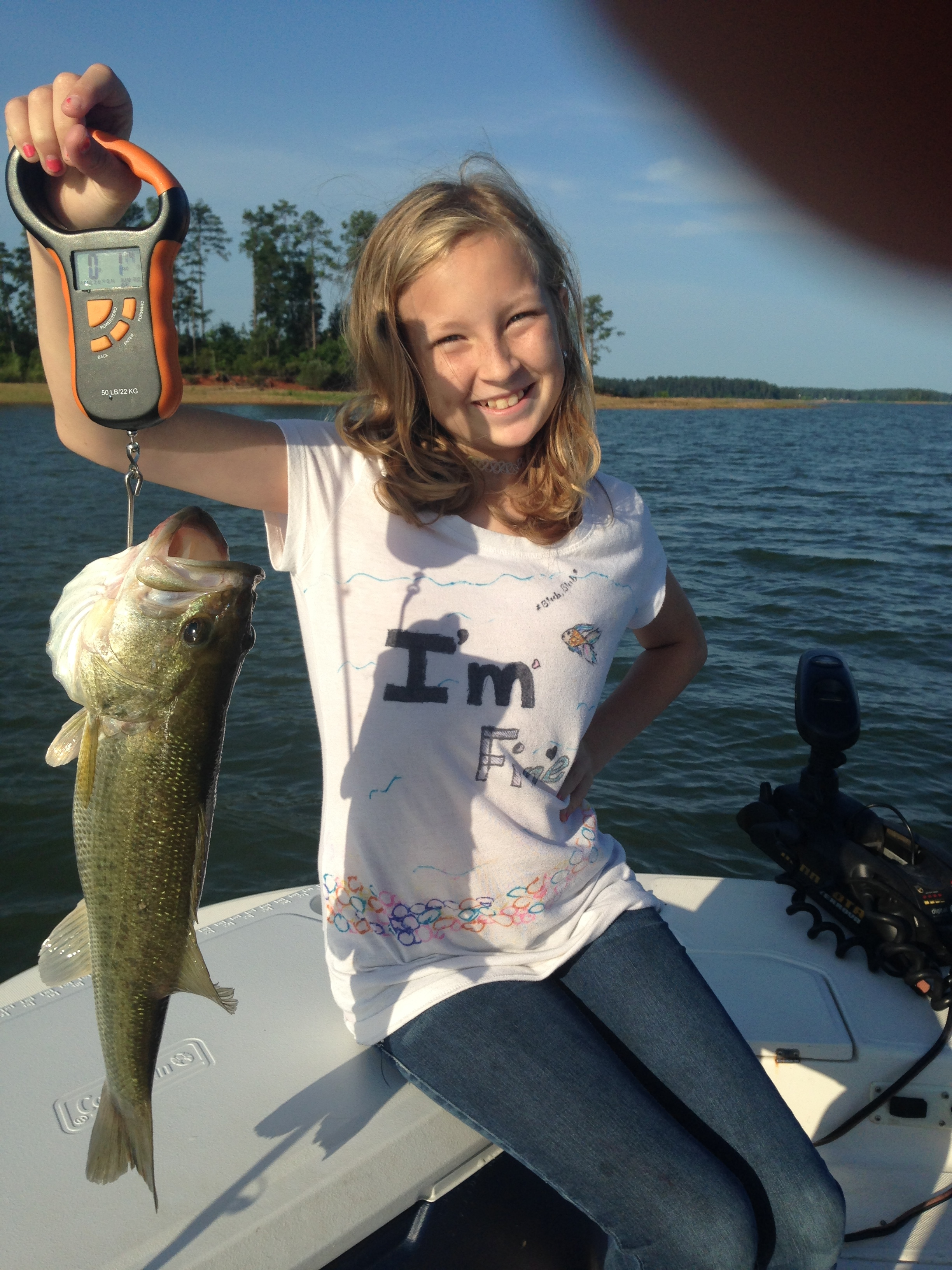 May 29, 2017 Tiffany Barrow with her 4 pound bass.