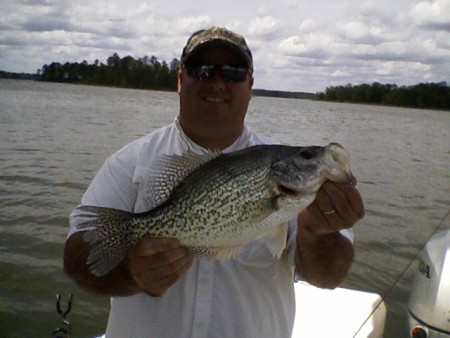 Jim Murphy with 3 lb crappie.