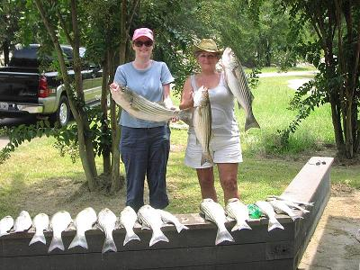 Wanda White and Margaret Fisher caught these beauties