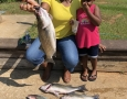 Auguss 15, 2018 Kenya Towner and daughter LaRah Smith with their catch of the day. IMG_2306