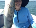 July 10, 2017 Cindy Gilley frrom Sycamore, Ga. with her 9 pound striper.