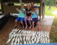 June 21, 2017 Eli, Jasie, Gabe Cleghorn from Vidalia, Ga. With their great catch.