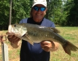 May 9, 2018 Dave Chiera with his 8 lb large mouth bass.
