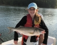 Parker Cleghorn with her  pound striper. IMG_0344