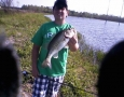 Johnathan Murphy with a 4 lb bass.