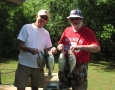 Jim and Jack Fugate with 4 of there 27 crappie.