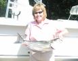 Juanita Cleghorn with her 11 pound striper.