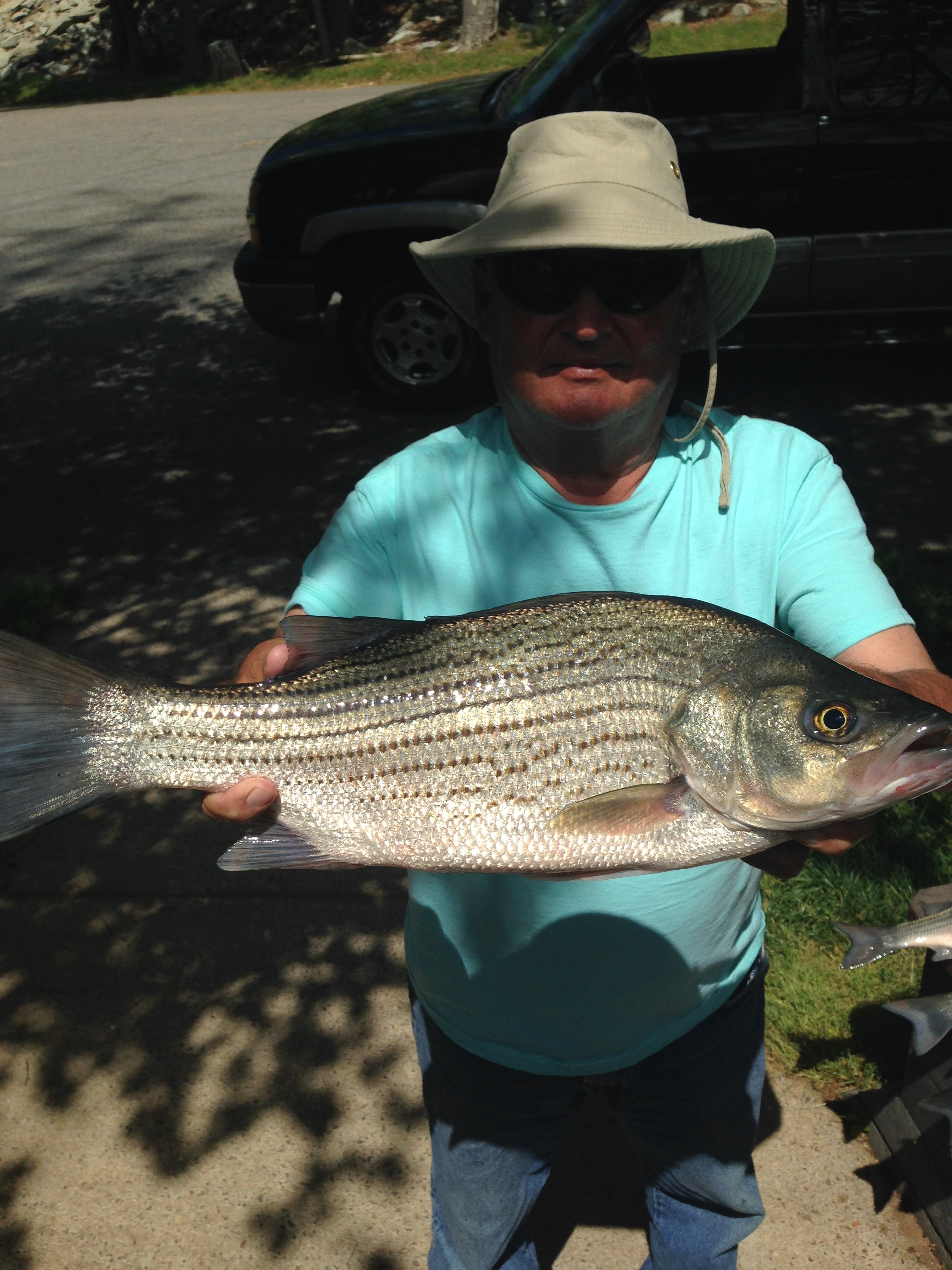 April 17, 2017 Ricky Cleghorn with his 7 lb hybrid