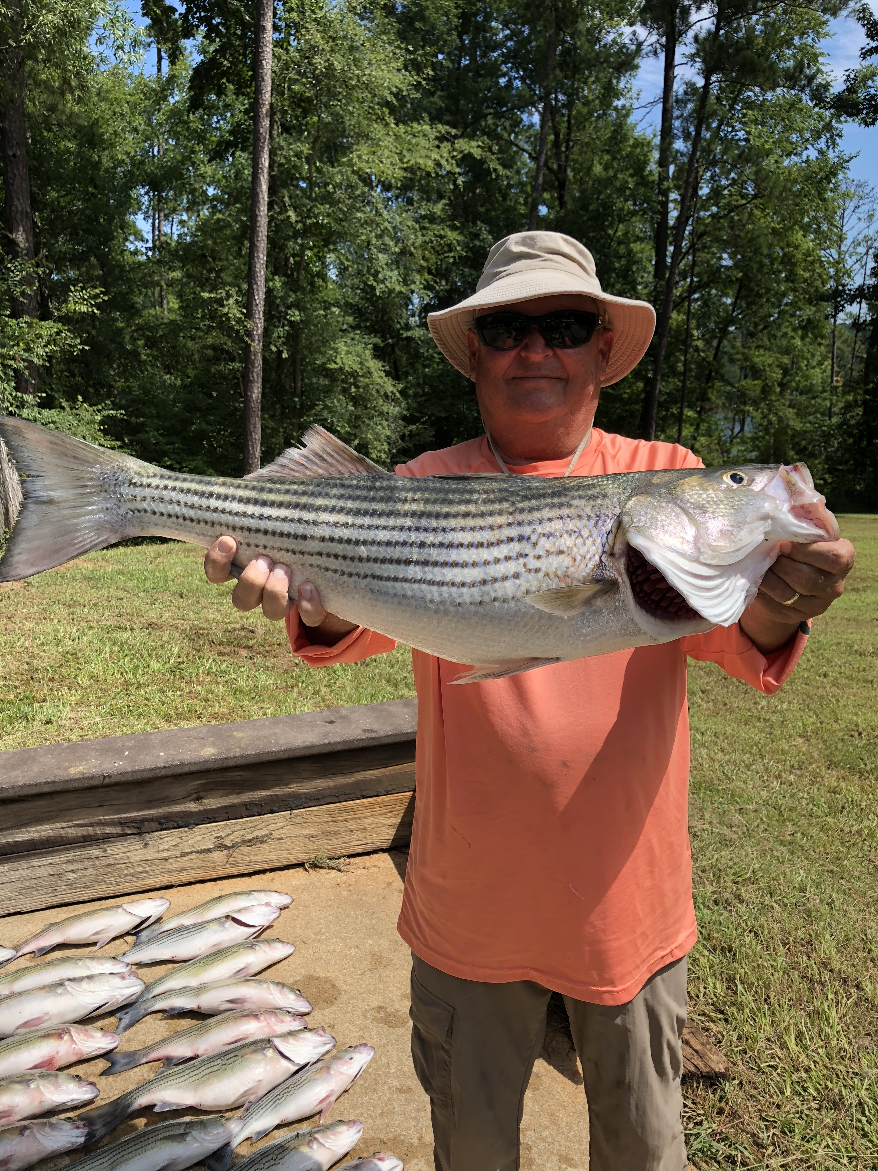 August 10, 2018 Ricky Cleghorn with his 12 pound striper IMG_2298