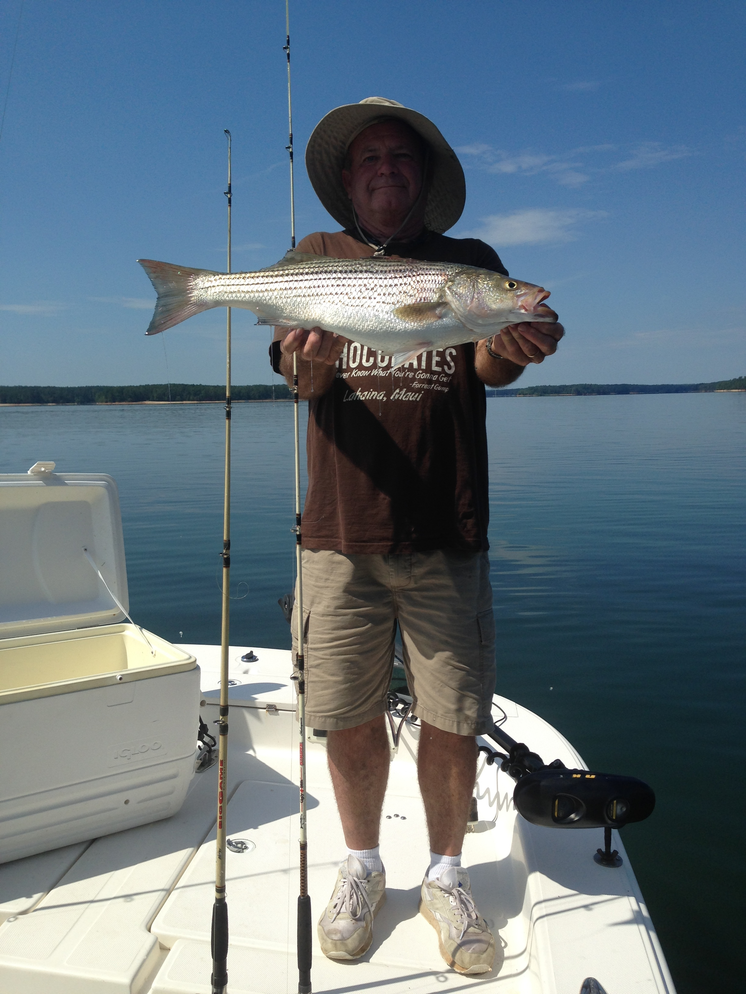 Captain Billy with his 8 lbs striper