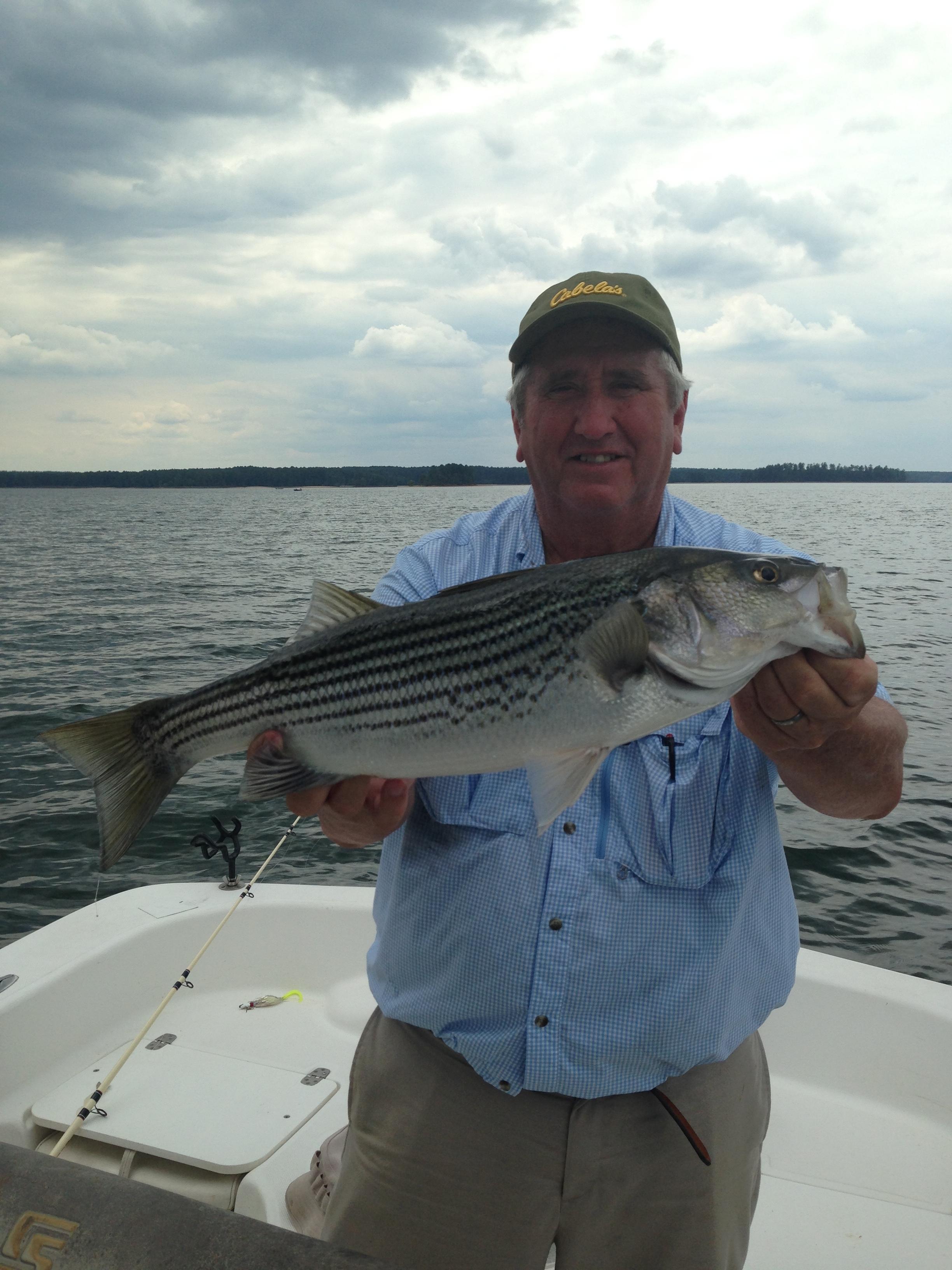 Glenn Smith from Albany, Ga. with 10 lb striper.
