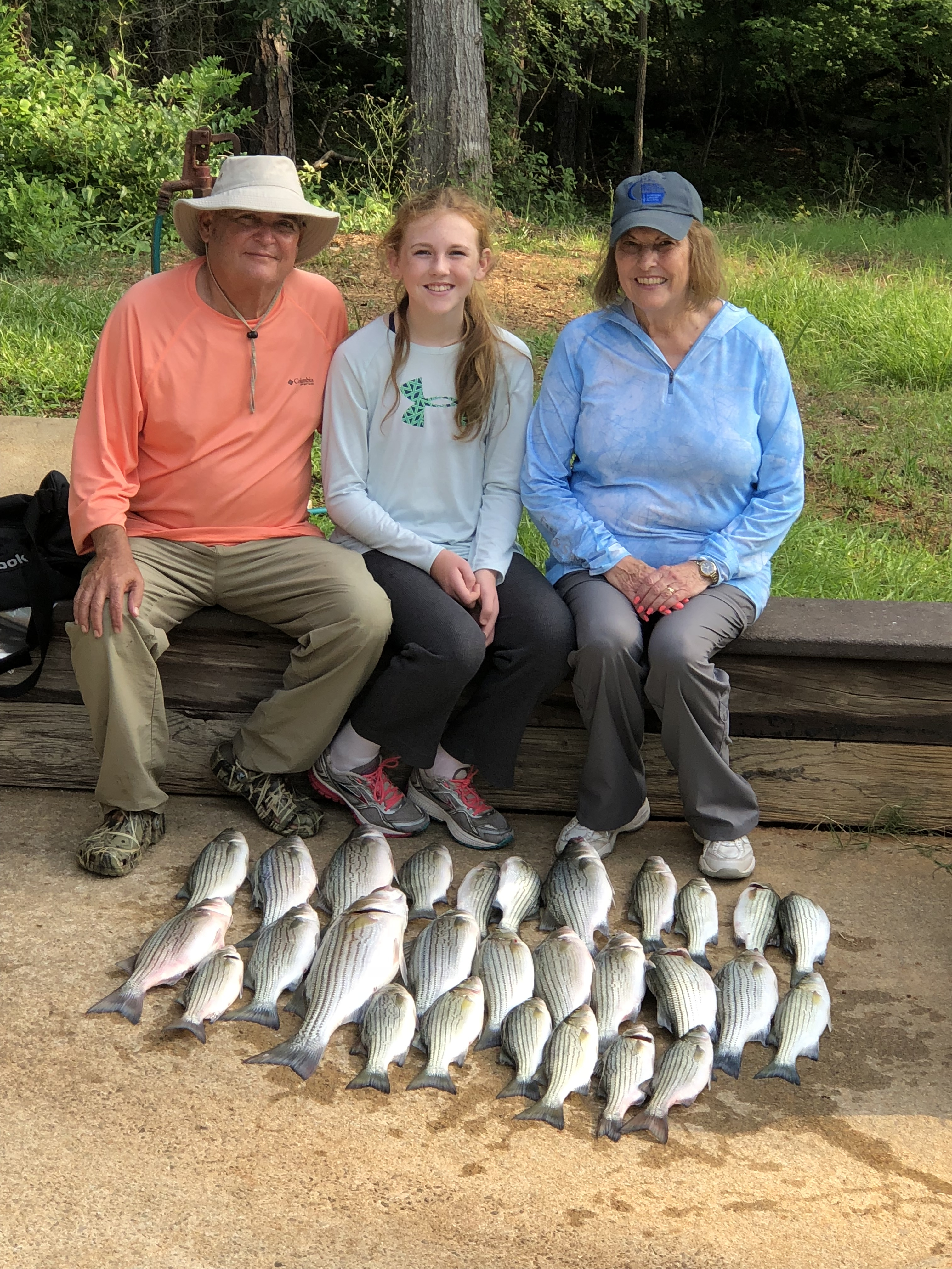 June 11, 2018 Ricky, Parker and Juanita Cleghorn with their catch of the day. IMG_2164