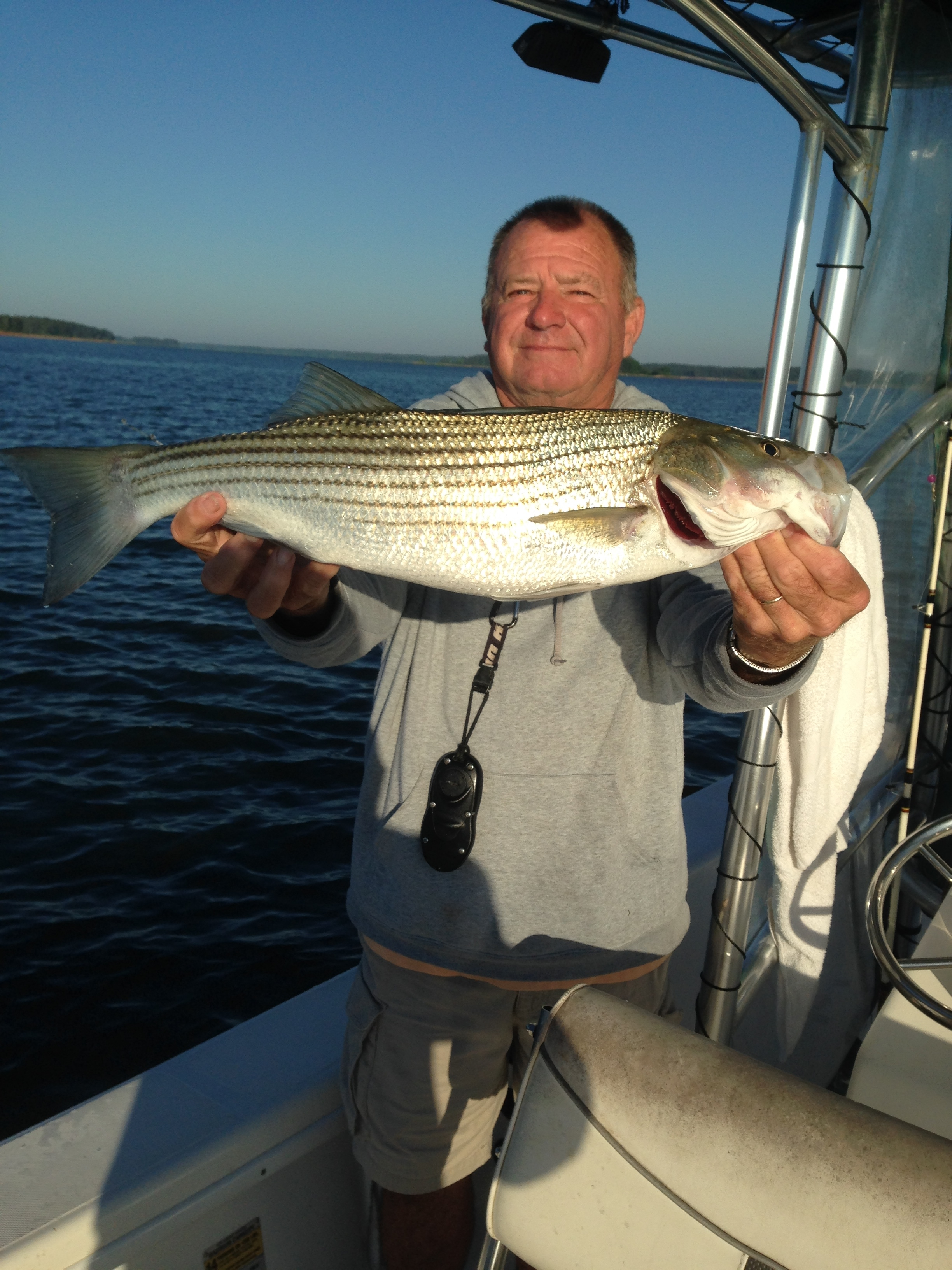 May 15, 2017 Billy with 8 lb striper