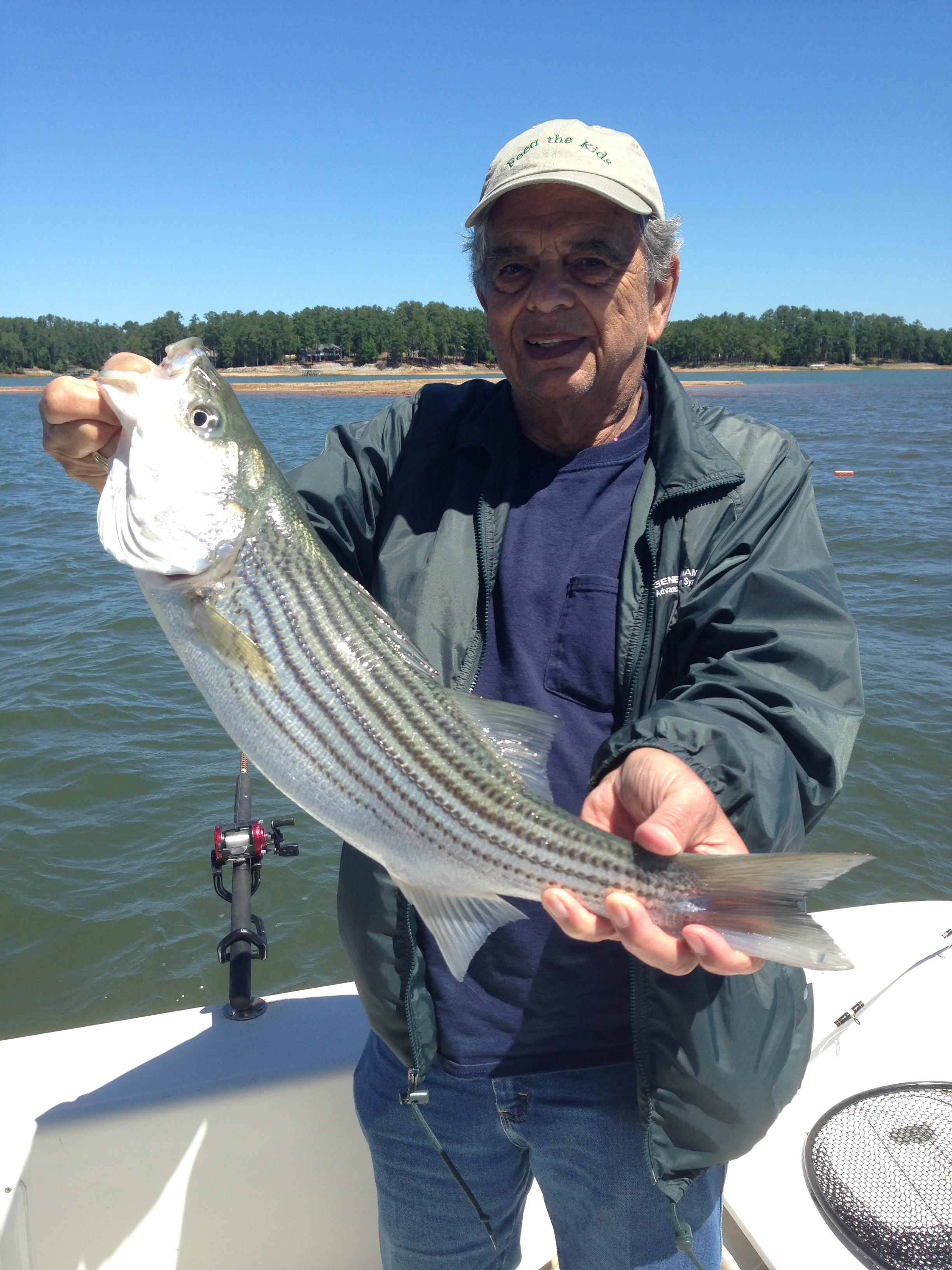 May 2, 2017 Irv Kershner from Henderville, N. C. with his 10 lb striper