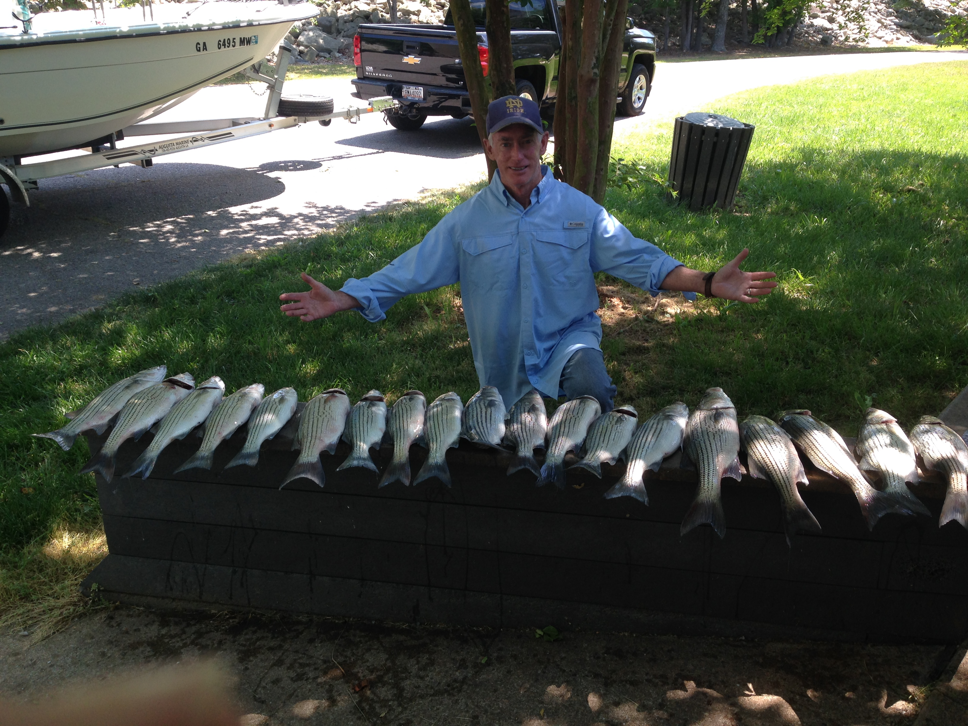 May 8, 2018,Joe Keeps with his and Ray Dowdy nice catch.