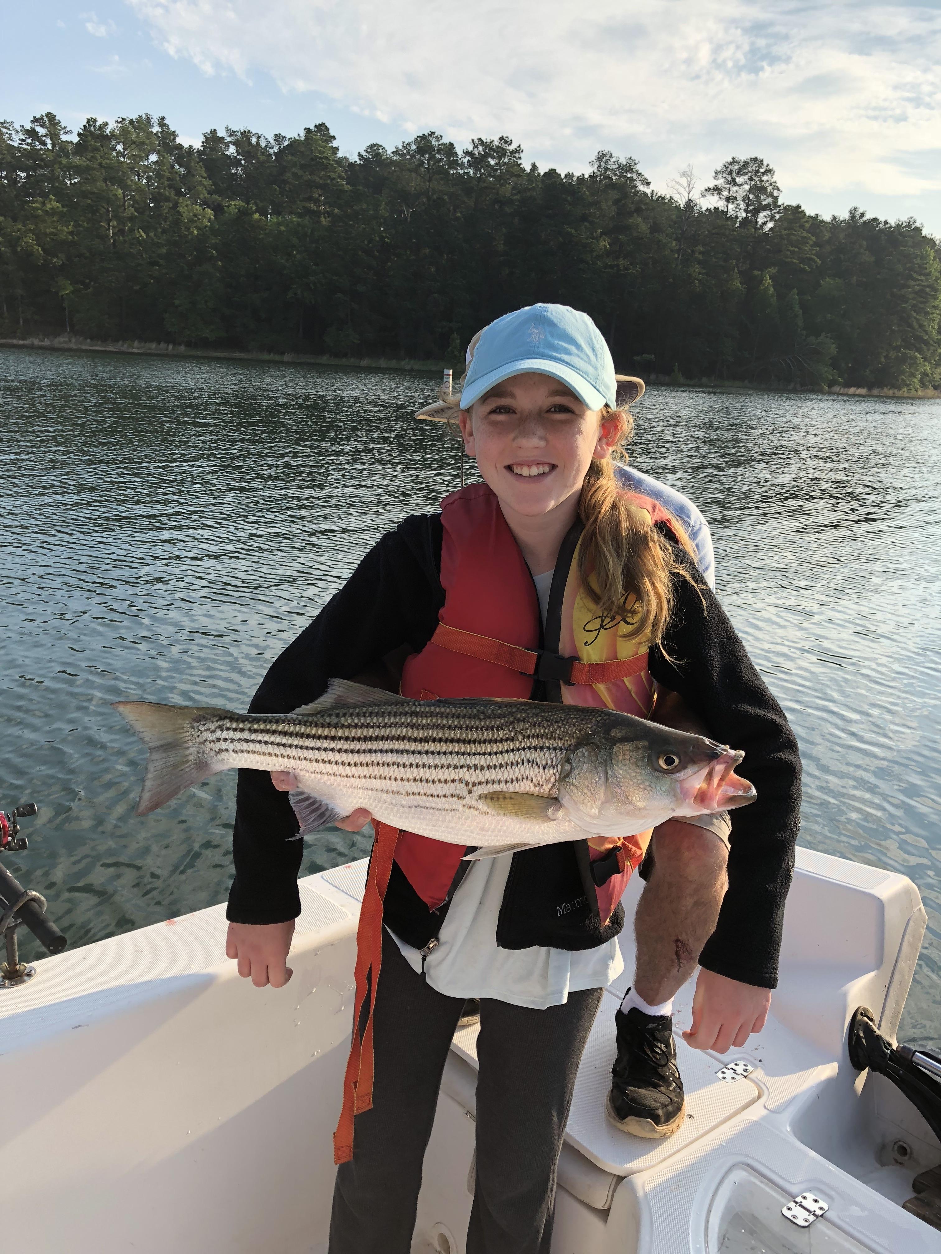 Parker Cleghorn with her  pound striper. IMG_0344